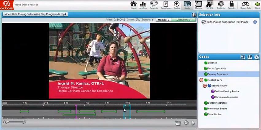Video in Dedoose