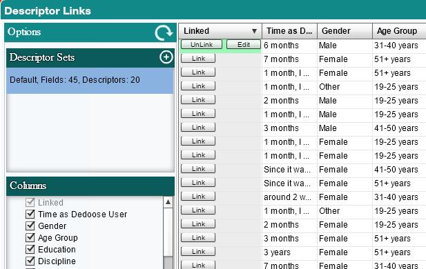 Descriptor Links