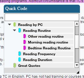 Quick Code Widget Screenshot