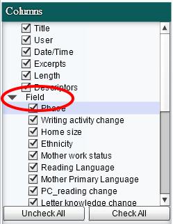 Select Column Filters