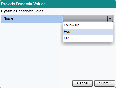 Post and Pre Dynamic Values