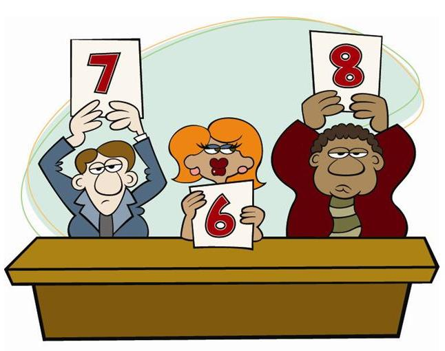 Judges Panel Rating Clipart