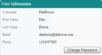 User Information Panel