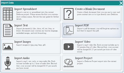 "Click ""Import PDF"" to Start"