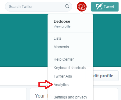 How to get to your Twitter Analytics